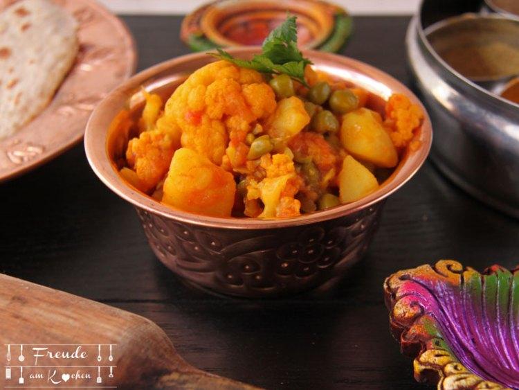 Aloo Gobi - indisches Kartoffel Karfiol (Blumenkohl) Curry - Freude am Kochen