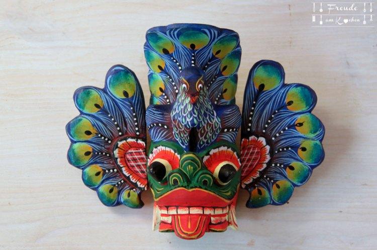 Sri Lanka - Food Haul und Kunsthandwerk Shopping - Freude am Kochen - Maske