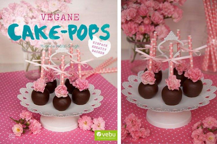 "Vegane Rosenblüten Tonka Cakepops - Auszug aus ""Vegane Cake-Pops"" - Vegan - Rezept - Freude am Kochen"