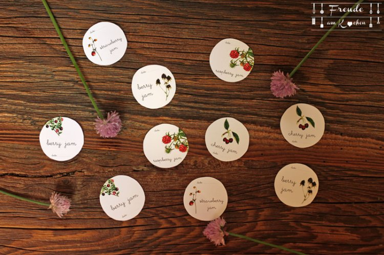 Pimp deine Marmelade: Kostenlose Etiketten - free Printables - Freebies - Freude am Kochen