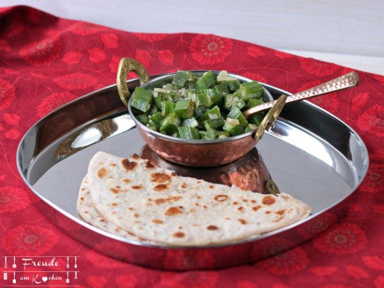 Indisches Okra Gemüse ala Schwiegervater vegan - Freude am Kochen