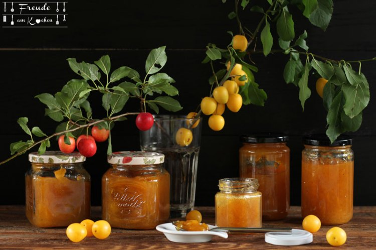 Kriecherl Marmelade - Ringlotten - Reneclauden-Mirabellen Konfitüre - Rezept vegan - Freude am Kochen