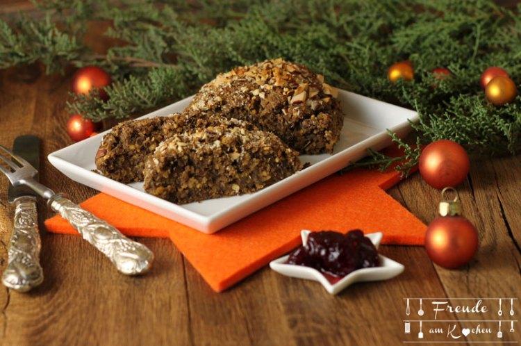 Linsen Hirse Braten vegan - Vegane Weihnachten - veganes Weihnachtsmenü - Freude am Kochen