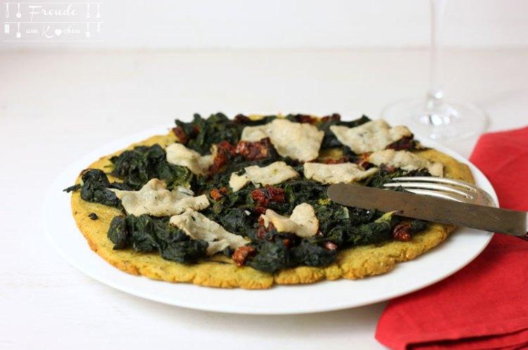 Kartoffel Pizza glutenfrei mit Bärlauch - vegan - Freude am Kochen