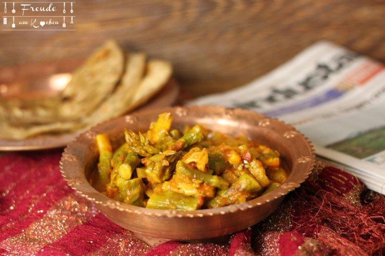 Indisches Spargel Curry vegan - Freude am Kochen