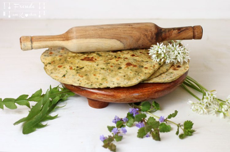 Wildkräuter Chapati vegan - Freude am Kochen