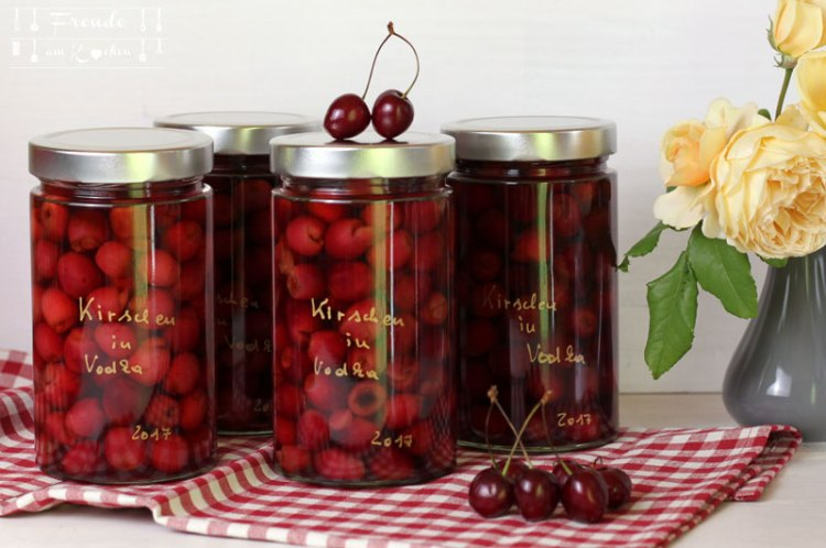 Kirsch Vodka - Cherry infused Vodka - Rezept - Freude am Kochen vegan
