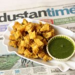 Kartoffel Pakoras mit Hari Chutney – Aloo Pakoras
