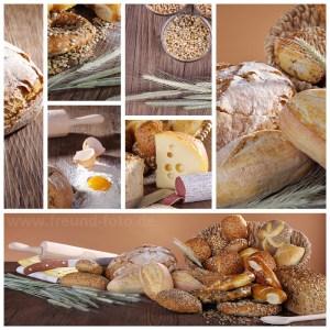Brot Collage vom Bäcker