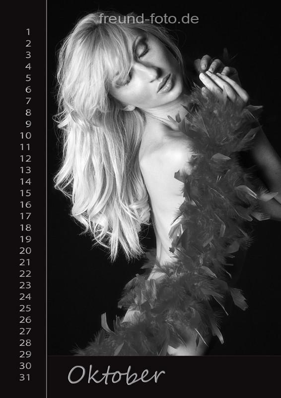 Kalender mit einer sexy Frau