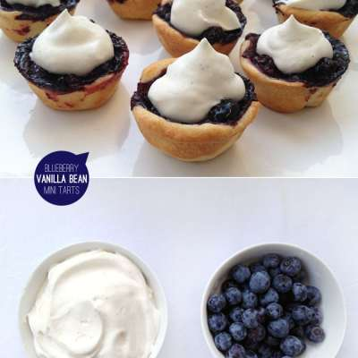 Blueberry Vanilla Bean Mini Tarts