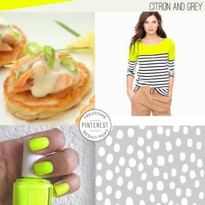 Citron + Grey Pins