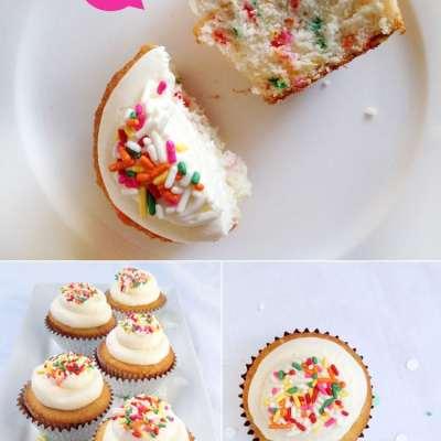 {Homemade} Funfetti Cupcakes