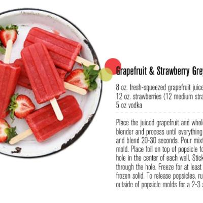 Grapefruit & Strawberry Greyhounds