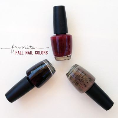 Favorite Fall Nail Colors