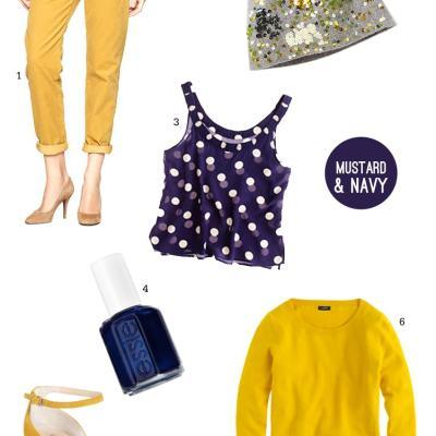 A Mustard & Navy Palette