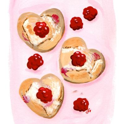 Easy Raspberry Scones