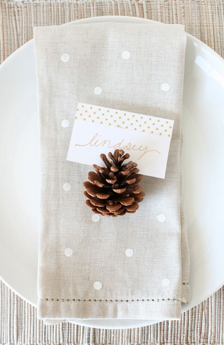 DIY Polka Dot Napkin Tutorial