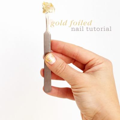 Gold Foiled Nail Tutorial