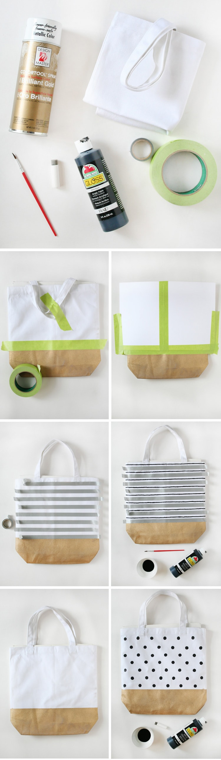 DIY Painted Market Totes