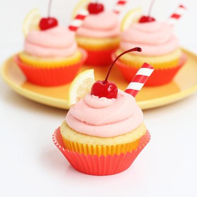 Cherry Lemonade Cupcakes
