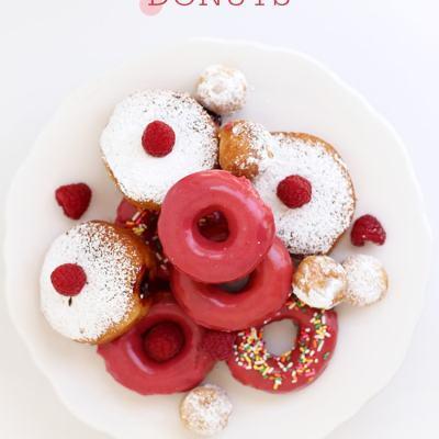 Raspberry Glazed Donuts