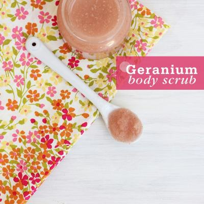 Geranium Pink Sea Salt Body Scrub