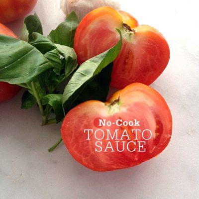 No-Cook Tomato Sauce Pasta