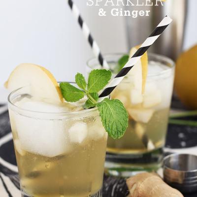 Asian Pear & Ginger Sparkler
