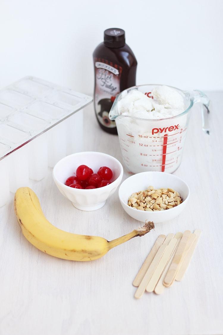 Banana Split Popsicles Ingredients
