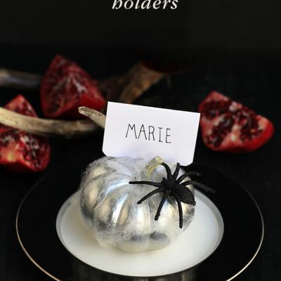 Spooky Pumpkin Place Card Holders