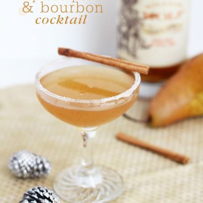 Spiced Pear & Bourbon Cocktail