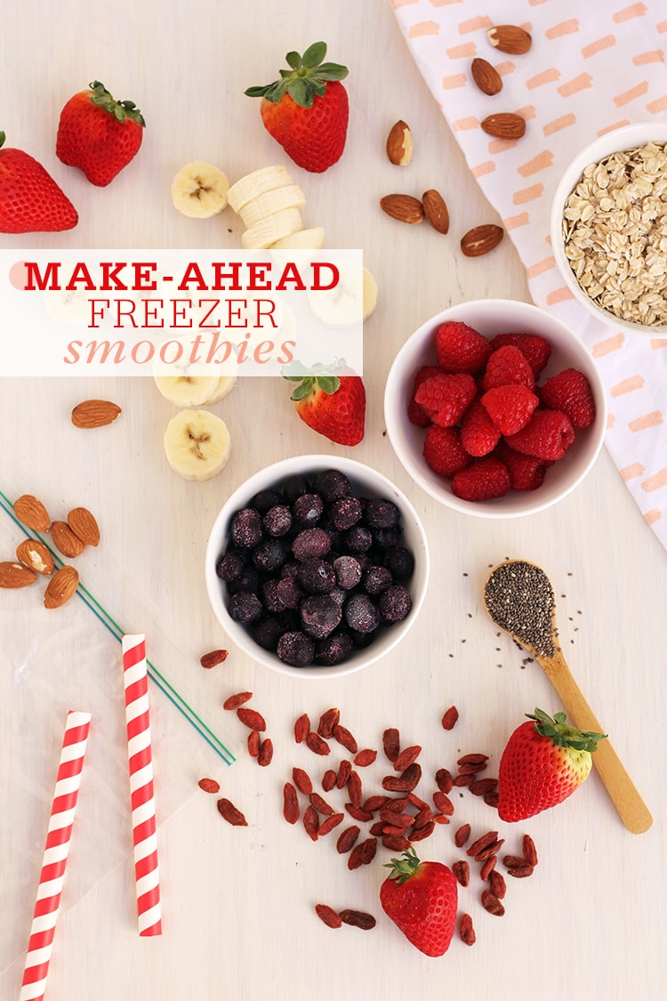Make Ahead Freezer Smoothies