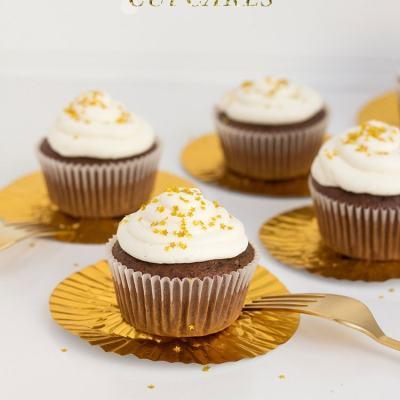 Oscar Party Chocolate Cupcakes
