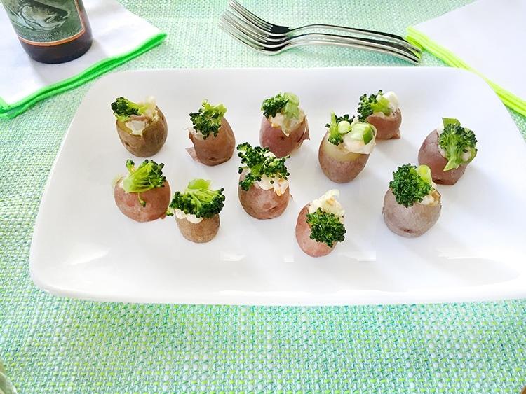 Loaded Green Potatoes