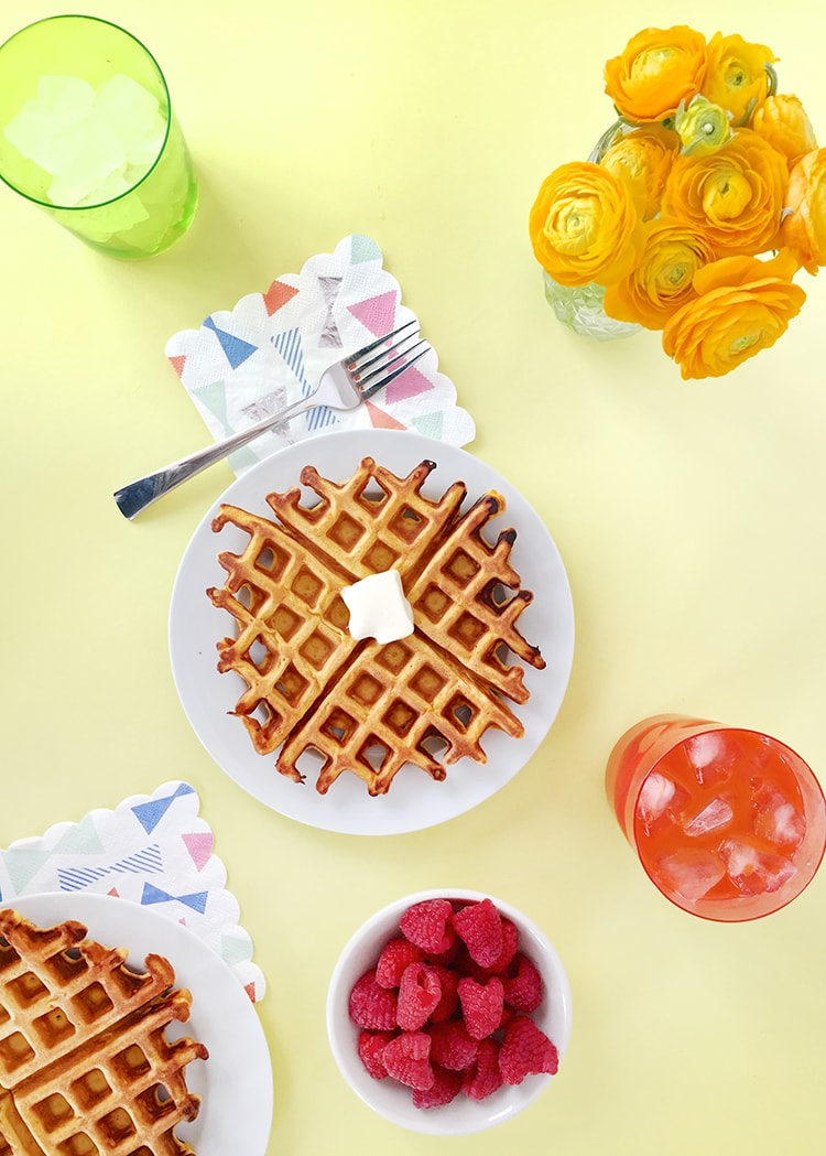 5-Ingredient Carrot Waffles