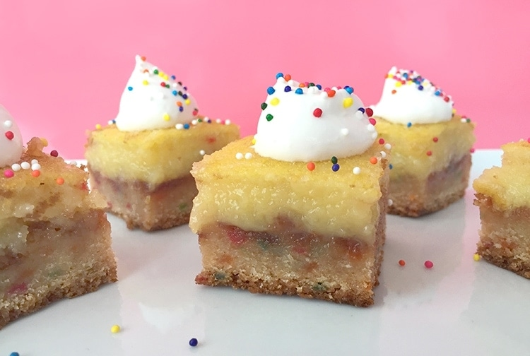 5 Ingredient Funfetti Lemon Bars