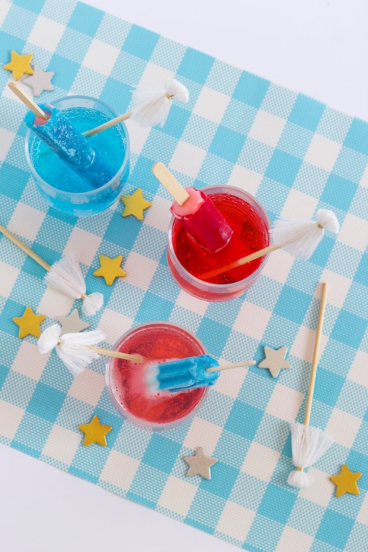 Fourth of July Popsicle Cocktail