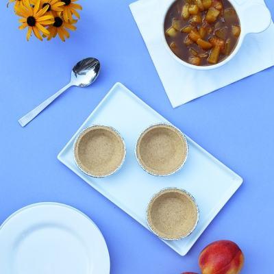 5-Ingredient Mini Peach-Bourbon Icebox Pie