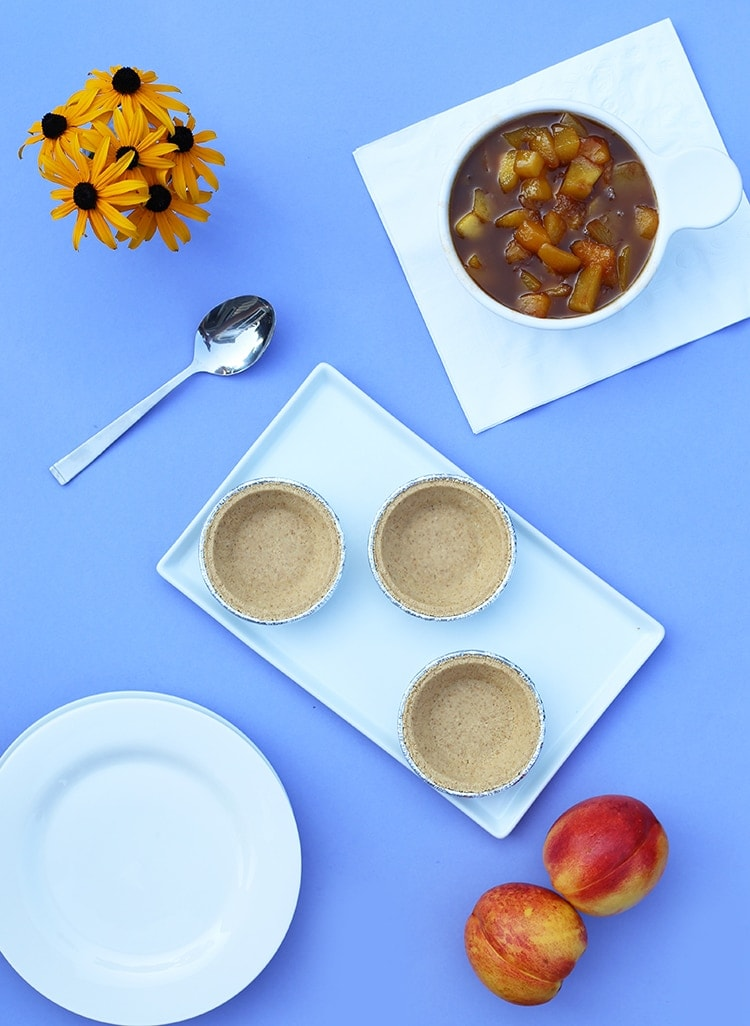 Mini Peach Bourbon Pies