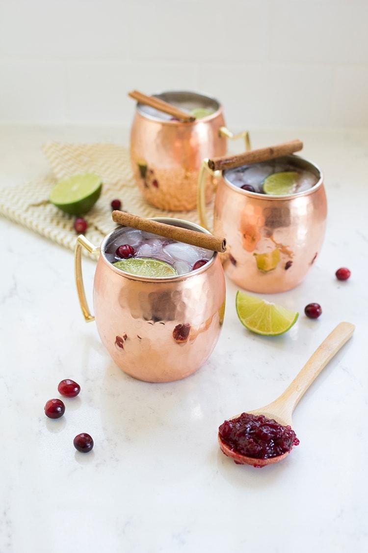 Cranberry Mule Cocktails