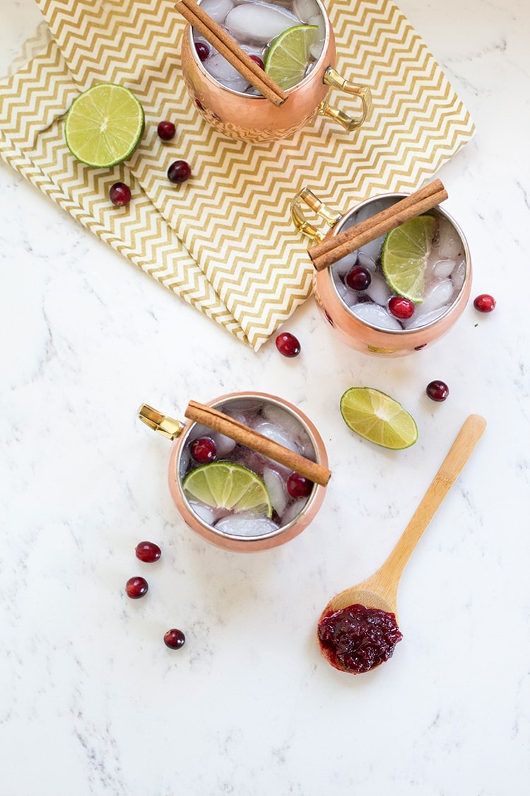 Cranberry Mule Cocktails
