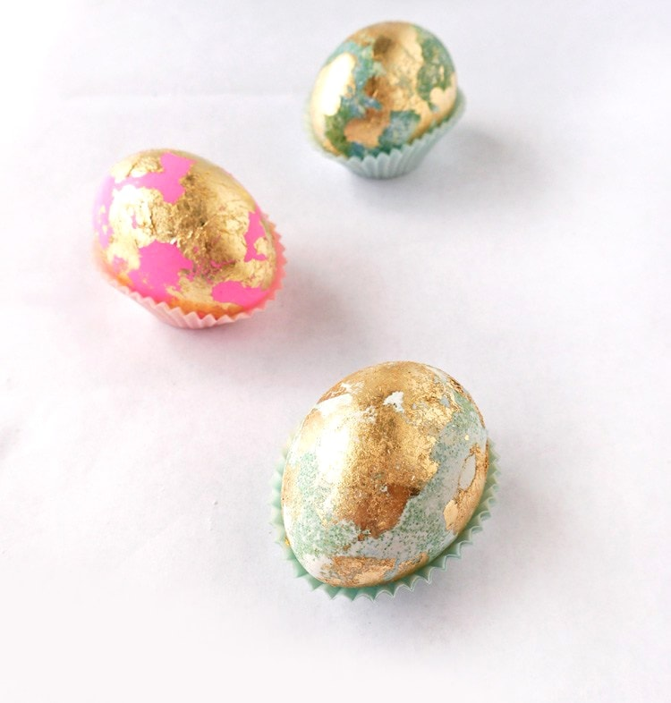 gold leafed Easter eggs