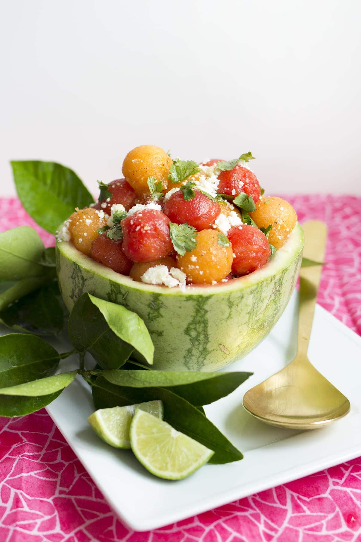 Watermelon Cantaloupe Salad