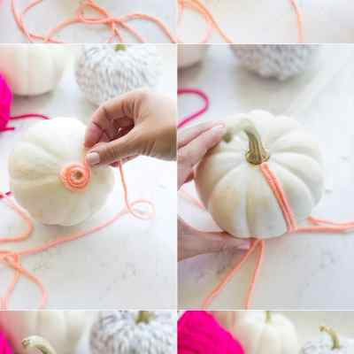 Yarn Covered Pumpkins