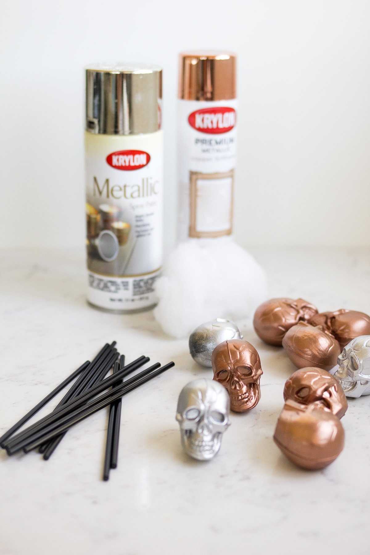 DIY Skull Stir Sticks for Halloween Cocktails