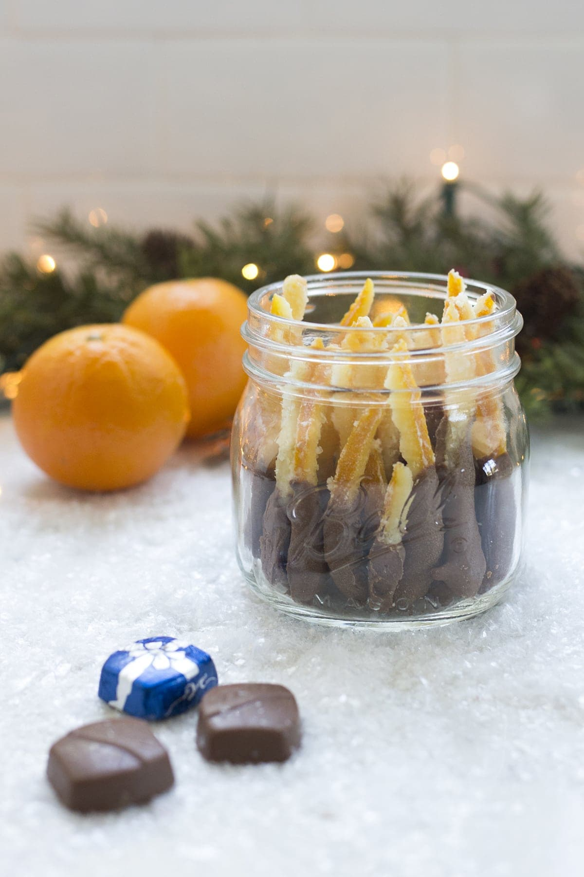 Chocolate Dipped Candied Orange Peels