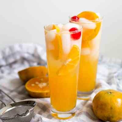 Honey Tangerine Collins Cocktail