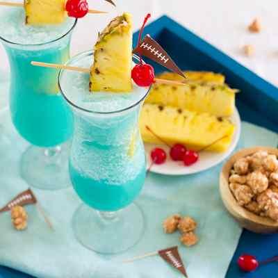 Super Bowl Blue Hawaiian Cocktails