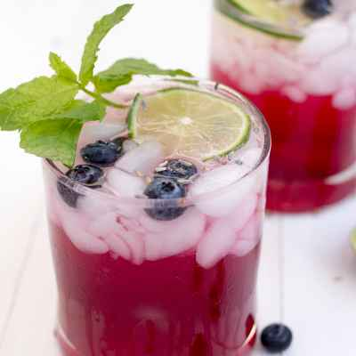 Lavender Blueberry Fizz
